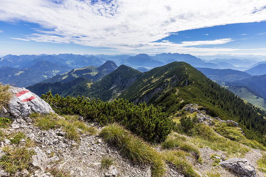 Bergsattel bayrische Alpen