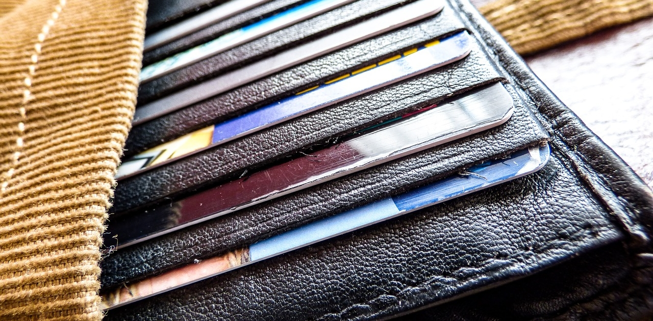 Geldbörse mit verschiedenen Karten